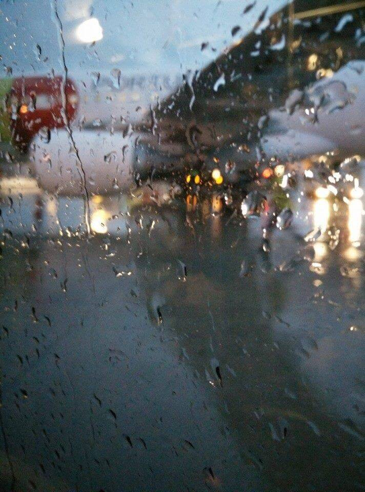 Chuva no Aeroporto da Portela - Lisboa